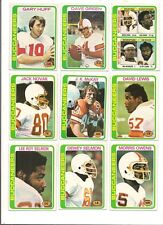 1978 Topps Tampa Bay Buccaneers Football Card Team Set (10 Different)