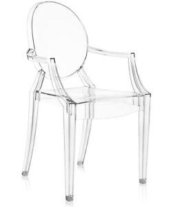 Stuhl mit/ohne Armlehnen inspiriert Louis Ghost Glasklar Klassiker Schminktisch