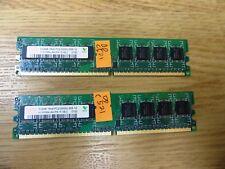 Dell C521 Hynix 1GB (2 pcs) DDR2 PC2-5300U 667MHz 240-Pin HYMP564U64CP8-Y5 AB-C
