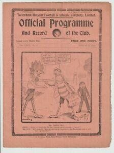 Tottenham Hotspur V Brentford Rare London Combination 1925/26