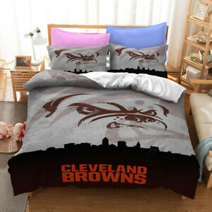 Cleveland Browns Quilt Cover 3PC Bedding Set Duvet Cover Cover Pillowcase Gifts