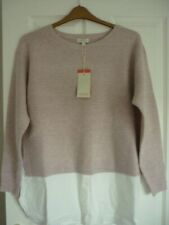 MONSOON PINK FARAH CREW NECK SHIRT HEM JUMPER. UK 16-18, EUR 44-46, US 12-14 NWT