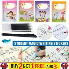 Kids Concave Practice Writing Copybook Children Educational Book & Pen Set