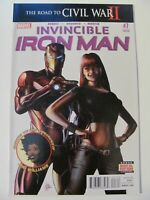 Invincible Iron Man #7 Marvel 1st app Riri Williams 3rd Print Variant 9.2 NM-