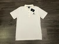 Nike Air Jordan Jumpman Team Dri-Fit Golf Polo Shirt White Mens S New 865856-100