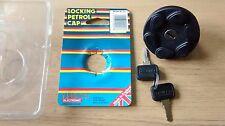 LOCKING FUEL / PETROL CAP - FITS: FORD FIESTA MK1 & MK2 & SPORT & XR2 (1976-88)