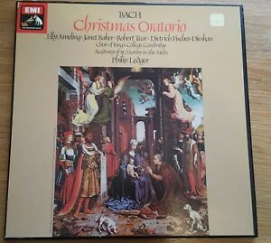 BACH CHRISTMAS ORATORIO AMELING BAKER TEAR DIESKAU LEDGER  SLS 5098 - 3 LP SET