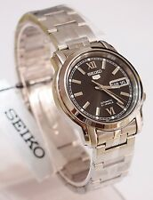 SEIKO 5 SNKK81K1 Stainless Steel Band Automatic Men's Black Watch & Gift New