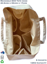 Reusable Canvas Shopping Bag Strong Eco Friendly Grocery Cotton Shoulder Totes