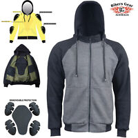 Australian Biker Gear 2020 Motorcycle Hoodie Jacket lined with KEVLAR® CE Armour