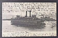 New York City 1906 Postcard NORTH RIVER FERRY PHILADELPHIA Hudson River