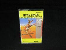David Evans and Thunder Down Under - Cassette - VPK1 0627- AC/DC - RARE!!!!!