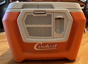 Coolest Cooler - Orange, Blender, Bluetooth Speaker, Plates, See Description