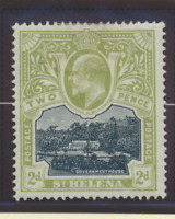 St. Helena Stamp Scott #52, Mint Hinged, Hinge Remnant