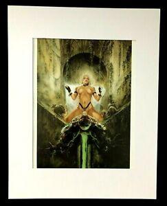 """Comunion"" by Luis Royo 1994 11x14 Matted Print-Fantasy Nudity GGA"
