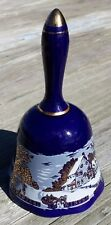 Currier & Ives Cobalt Blue Bell Gold Japan The Homestead In Winter