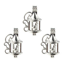5Pcs Silver Plated Birdcage Pearl Beads Cage Pendant DIY Eaaential Oil Diffuser