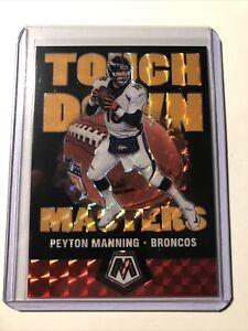 2020 Panini Mosaic Peyton Manning Touchdown Masters Orange Fluorescent SSP 20/25