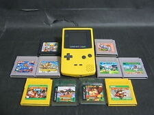 Nintendo Gameboy color console and 10 games (Donkey kong, sport games) set