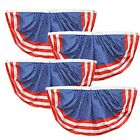 """(4 Pack) 35""""x18"""" Striped Red, White and Blue Patriotic Nylon Pleated Bunting"""