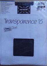#) vintage, collant neuf KUNERT TRANSPARENCE 15 chinchillan lycra gris 52-54