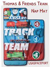THOMAS &Friends Train Cars NAP MAT Toddler Daycare Pre-school BLANKET+PILLOW Set
