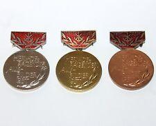 3 Vintage GDB Germany medals Hervorragender Ausbilder GST Gold Silver Bronze GDR