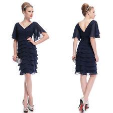 Knee Length Chiffon V Neck Empire line Dresses for Women