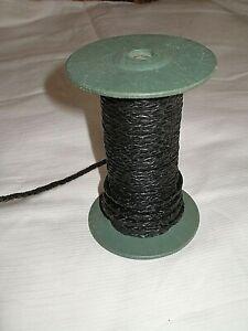 Cordon en cuir tressé noir 3 mm fil pour bracelet collier bijoux, perle