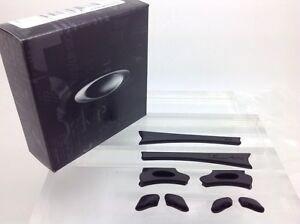 AUTHENTIC OAKLEY FLAK JACKET EAR SOCKS & NOSE PADS KIT. NEW! 06-210 BLACK