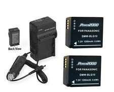 TWO 2 DMW-BLG10GK DMW-BLG10PP Batteries + Charger for Panasonic DMC-GF6 DMC-GF6X