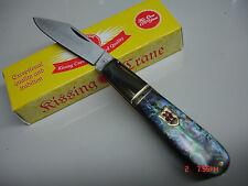 Kissing Crane Abalone Barlow Folding Knife