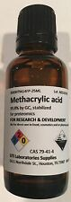 Methacrylic acid, 99.8% by GC, stabilized, for proteomics, 25mL