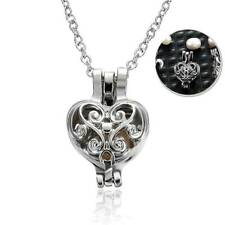 Wholesale Pearl Oyster Bead Silver Locket Cage Pendant Charms Necklace Gift NEW
