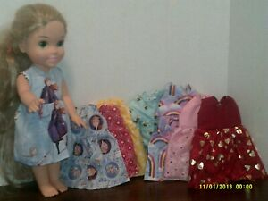 """Doll Clothes Hand Made to fit 14"""" Disney Princess -lot of 8 -  G96"""