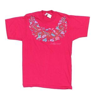VTG 90s Adult Medium 38 Dollywood T Shirt Dolly Parton Hummingbird Floral Bright