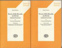 Cassirer Storia filosofia moderna IV Sistemi posthegeliani 2 volumi tomo 1-2