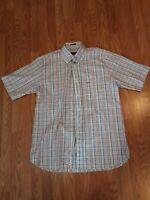 Paul Shark Yachting Shirt Men  XL Multicolor Stripe Button Front short Sleeve