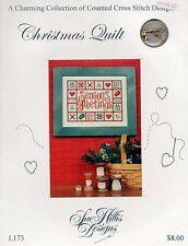 Christmas Quilt Cross Stitch Leaflet - Sue Hillis #L173 - Charms included
