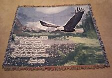 Isaiah 40:31 Throw Blanket Tapestry Memorial Eagle Flying Afghan Free Shipping