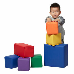 ECR4Kids Softzone Foam Toddler Building Blocks, Soft Play for Kids (7-Piece Set)