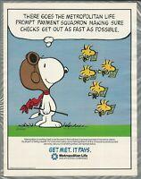 1986 MET LIFE advertisement, SNOOPY, Schulz, Metropolitan Life ad, Woodstock