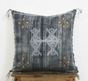Sabra Silk Inspired Handmade Cotton Moroccan Pillow Cushion Cover