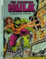 Vintage PICCOLO POP-UP BOOK: THE INCREDIBLE HULK - STAN LEE & MARVEL 1980