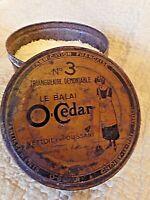 ancienne boite ronde O' Cédar numéro 3 en tôle lithographiée