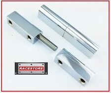 80mm Pintle Hinges (PAIR) Chromed Brass, Switchboard Metal Cabinets, Meter Boxes