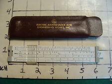 vintage Pocket Slide Rule:  PICKETT model 61 in sleeve GE Electtric Maintenance