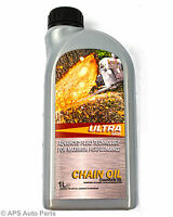 Advanced Chainsaw Oil 1L 1 Litre For Electic or Fuel Chainsaws Best Quality