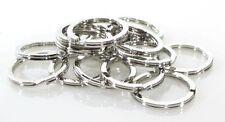 """Chrome Plated High Quality UK Made Bulk Steel Split Ring 1 1/4"""" Keyrings 100 Lot"""