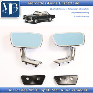 Mercedes-Benz W113 250SL 280SL Pagode Pair Exterior Mirror Late With Base